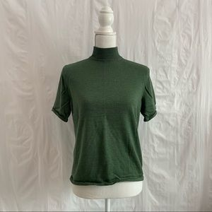 Vintage Pendleton Green Short Sleeve Wool Sweater